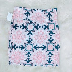Charlotte Russe Dark Teal Floral Bodycon skirt